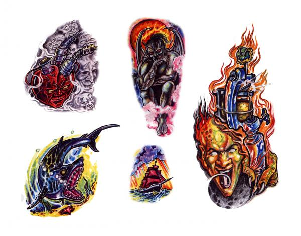 Magical Tattoo Design 4, Fantasy Tattoo Designs