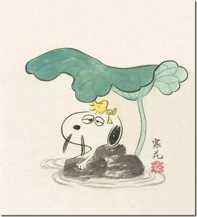 Peanuts X China Chic by froidrosarouge 花生漫畫 中國風 by寒花 Spike 08