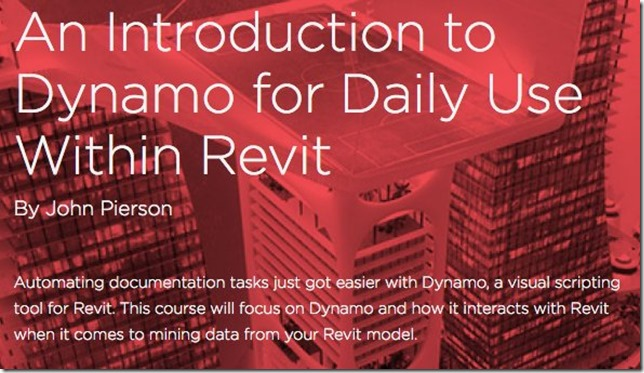 dynamo4DailyUse now available on Pluralsight