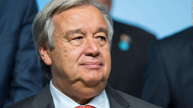 UN Secretary-General Antonio Guterres, seen during the COP 23 United Nations Climate Change Conference in November, called upon the world community to come together in 2018. Photo: Lukas Schulze / Getty Images Europe