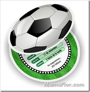 Tarjeta en Forma de Balón de Fútbol