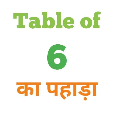 6 Ka Pahada ( 6 का पहाड़ा ) 6 ka pahada in hindi - Group Exam
