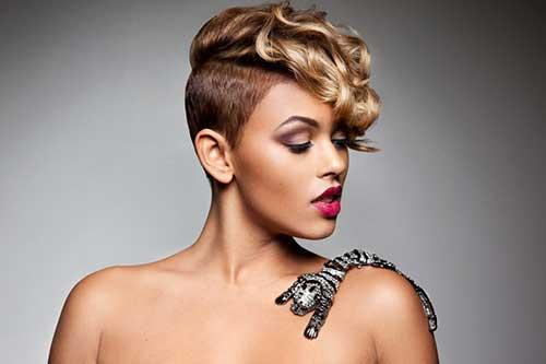 Excellent Trendy Short Blonde Hairstyle On Black Women Fashion Qe Hairstyles For Women Draintrainus