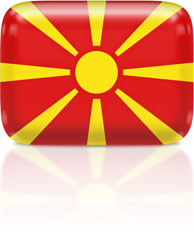 Macedonian flag clipart rectangular