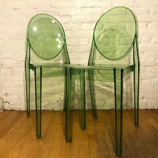 Kartell + Philippe Starck Victoria Ghost Chair Pair