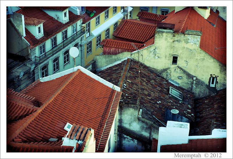 Telhados Toits Chiado Lisbonne