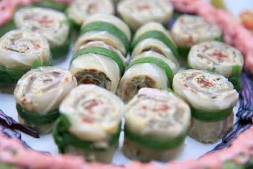 Cá cuộn thịt nấm
