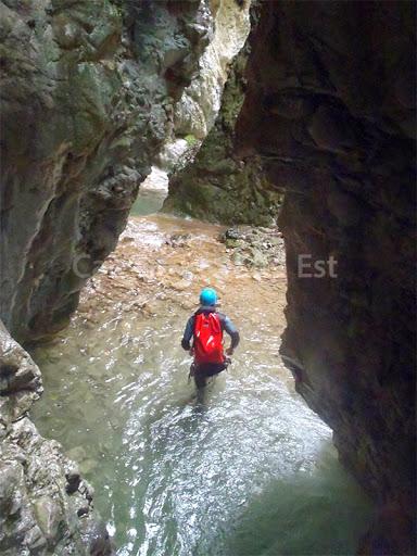 Partie de marche canyon de l'Imberguet