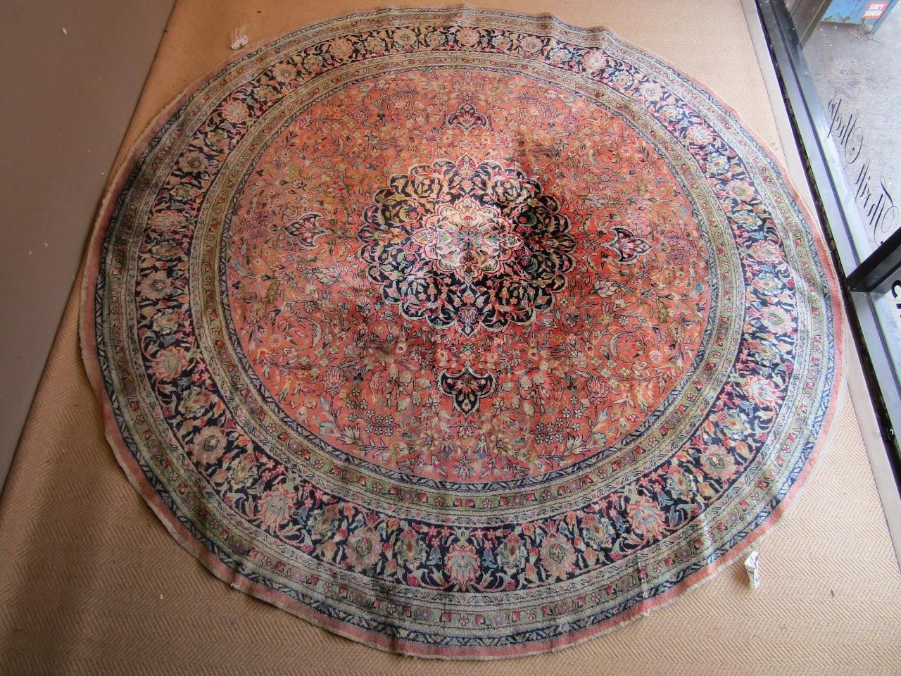 Circular Silk Area Rug