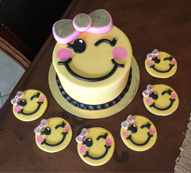 Cakes By Christina Russell Emoji Birthday Cake Cookie Favors