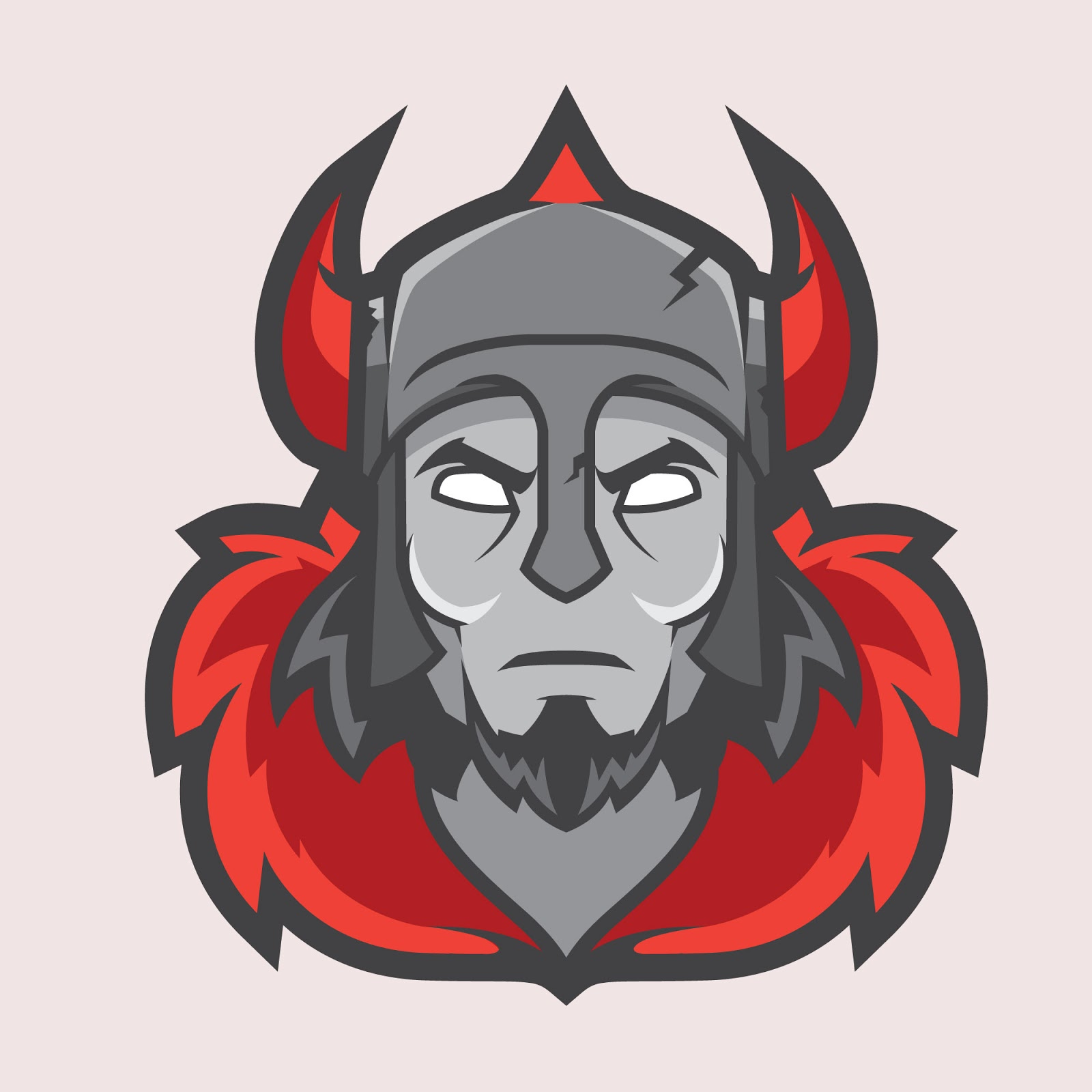 Warrior Mascot Illustration Free Download Vector CDR, AI, EPS and PNG Formats
