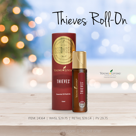Young Living Gift Ideas Holiday Catalog 2018 Thieves Roll-On A