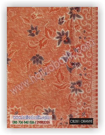 Model Baju Batik, Contoh Model Baju Batik, Gambar Baju Batik, CB281 ORANYE