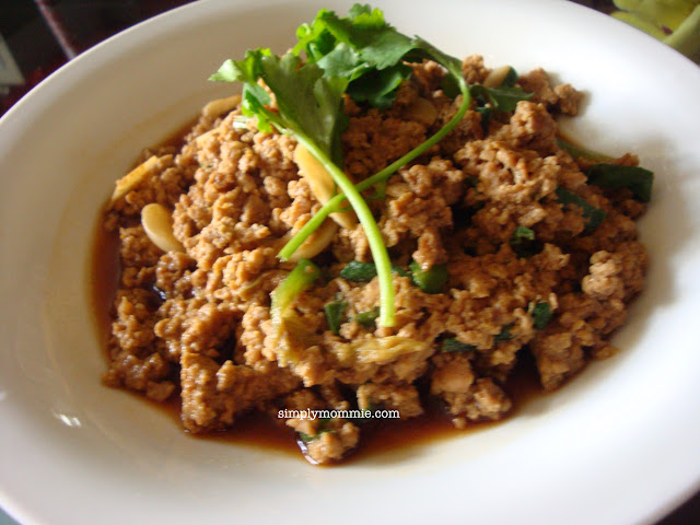 stir fry minced pork with egg