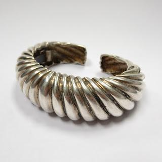 Sterling Silver Heavy Cuff Bracelet