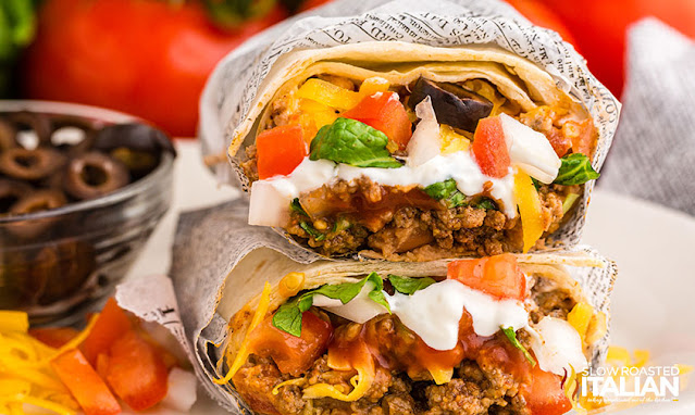taco bell supreme burrito wrapped in paper