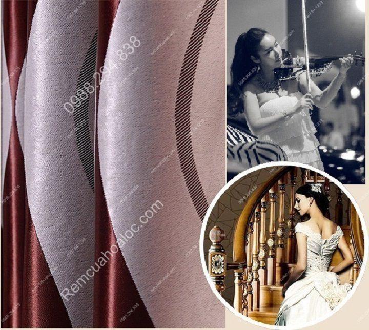 Rèm cửa đẹp và rẻ hà nội họa tiết sóng violin 8