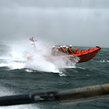 12 June 2011 - ILB alongside ALB during exercise in rough weather (southerly force 7, gusting 8, heavy rain). (Photo credit: Rob Inett)