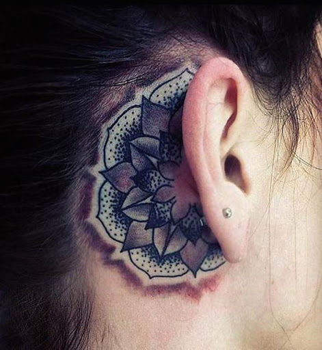 24bdf121c 55 Best Ear Tattoos Designs and Ideas