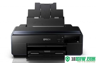 How to reset flashing lights for Epson SC-P600 printer
