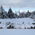Winter snowfall at first house