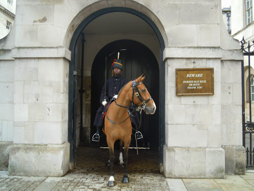 Sentry on Horse, Household Cavalry Museum. From The Complete Guide to the Changing of the Guards