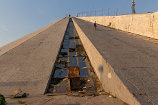 Pyramid of Tirana - scary to walk up and down.