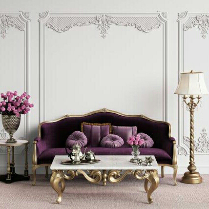 Set Kursi Sofa Ruang Tamu Lavender Luxury