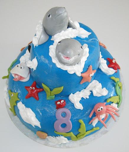 966-Dolfijnen zee taart.JPG