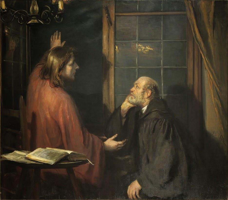 Fritz von Uhde - Christ and Nicodemus