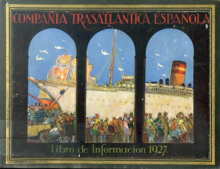 Portada del Libro de Información. 1927. Compañia Trasatlantica Española.jpg