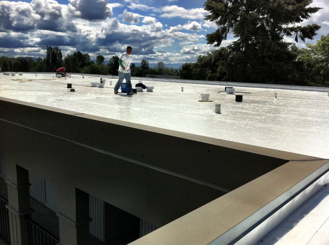A Properly Installed Duro Last Roof Does Not Look Any Different Than A Roll  Good PVC Roof.