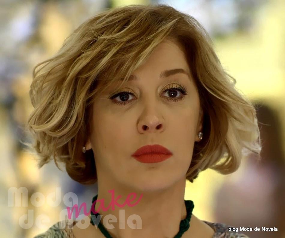 moda da novela Alto Astral, maquiagem da Samantha no casamento da Laura