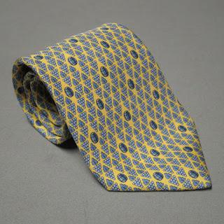 Hermès Yellow Silk Tie
