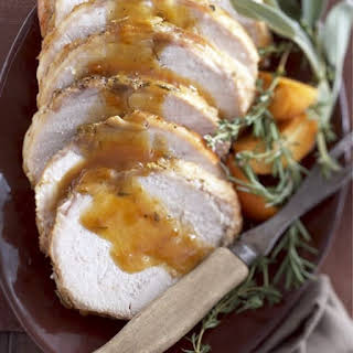 Slow Cooker Herbed Apricot Pork Loin Roast.