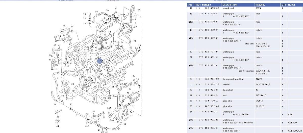 2001 Audi A6 2.7t Coolant Leak