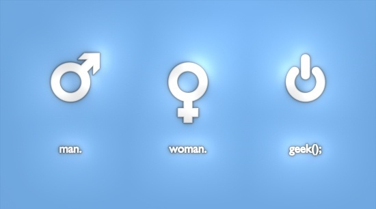 Man, Woman & Geek Symbols
