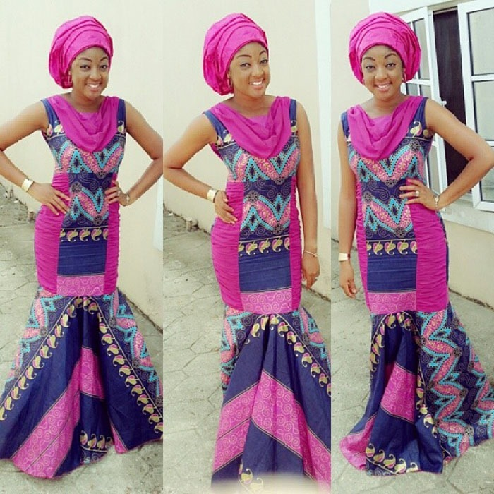 Beautiful long free ankara design (4)