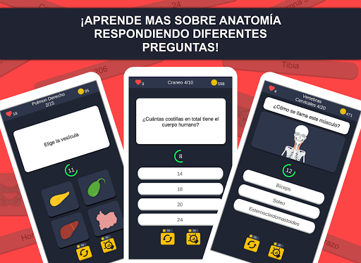 Anato Trivia - Quiz sobre Anatomía Humana 1.2.0 screenshots 2