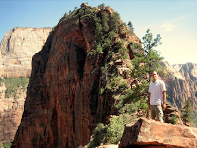 Angel's Landing is the highest point in this picture. I realize now that my mother probably wouldn't approve.