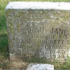 Sarah Jane dau. of Jane Crockett & Benj. F. Gleaves, Dec. 6, 1849 July 3, 1929