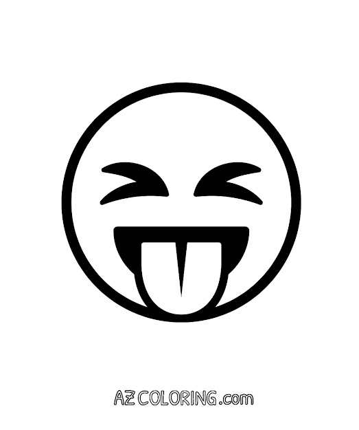 Face With Stuckout Tongue And Tightlyclosed Eyes Emoji Coloring Page
