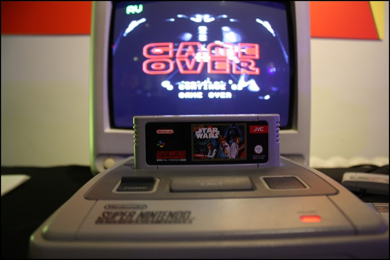 A Classic Super Nintendo at Power Up at the Science Museum