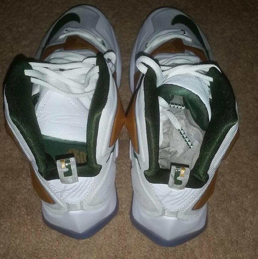 premium selection f40d7 f79a1 ... First Look at Nike LeBron 13 SVSM Home PE ...