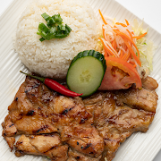Grilled Chicken on Steamed rice