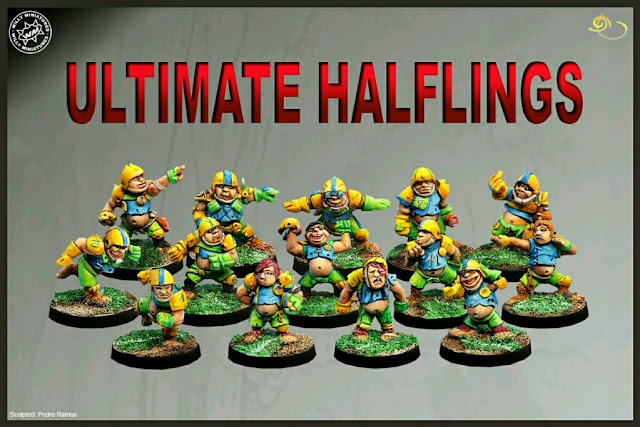 Halflings Blood Bowl Willy miniatures Pedro Ramos