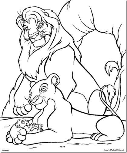 simba rrey leon colorear 5(6)
