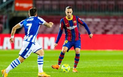 ملخص واهداف مباراة برشلونة وريال سوسيداد (2-1) الدوري الاسباني