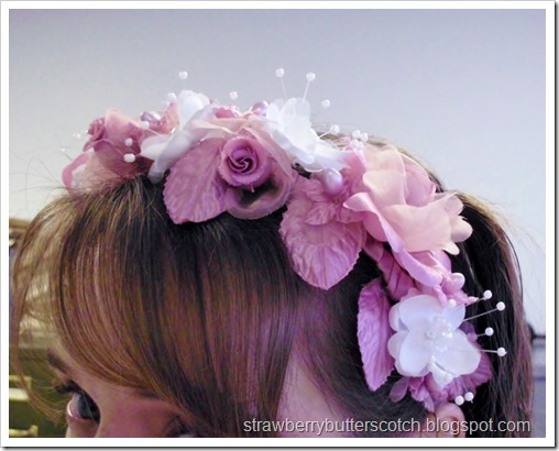 Beautiful flower head band for Easter.