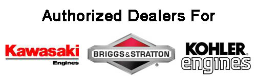 authorized dealer for kawasaki engines, briggs & stratton and kohler small engines